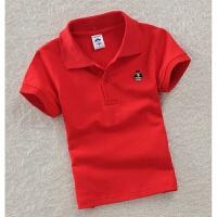 春夏高尔夫服装 儿童短袖T恤 夏男女童 polo衫 休闲运动 翻领纯棉