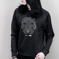 Adidas阿迪达斯 女子 运动休闲卫衣 宽松针织套头衫 BQ0739