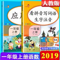 看拼音写词语生字注音+应用题一年级上册人教版