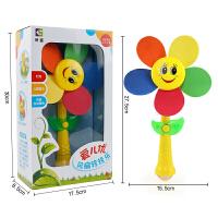 儿童大风车玩具 电动旋转风车转转乐 灯光音乐玩具风车自动旋转 风扇转转乐