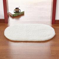 进门地垫门垫卧室地毯 厨房门口卫浴卫生间浴室脚垫子 米白色 羊羔绒 200*300厘米 椭圆