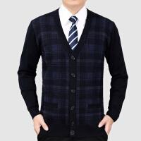 中老年人羊毛衫中年男士加厚开衫爸爸装外套毛衫老年人针织衫毛衣