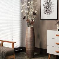 复古陶瓷落地大花瓶摆件欧式家居客厅软装饰品高陶罐缸