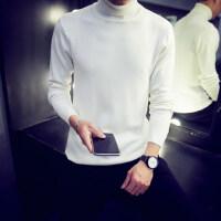 韩观男士修身打底衫高领毛衣纯色针织衫长袖韩版冬季加绒加厚线衫男装
