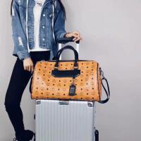 短途旅行包男女通用手提大容量行李袋2018新旅游包街头潮流网红款 棕色 大