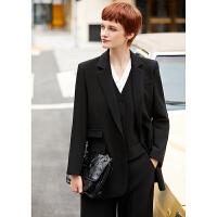 【超品预估价182】Amii极简时尚西装三件套2020秋季新款休闲外套职业套装女炸街西服