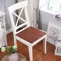 夏季麻将凉席坐垫办公室电脑椅垫夏天餐椅凳子竹子垫汽车座垫J