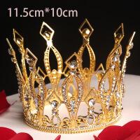 七夕巴洛克皇冠蛋糕装饰摆件蕾丝手工复古皇冠新娘发饰情人节礼物