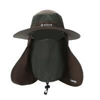 帽子男士夏户外防晒渔夫帽登山钓鱼遮阳帽垂钓遮脸防紫外线太阳帽SN1031
