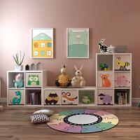 可定制儿童玩具收纳柜子储物柜客厅书柜书架子格子柜儿童房置物架 1个