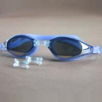 电镀游泳眼镜 防水防雾电镀膜泳镜带硅胶耳塞008 支持礼品卡支付