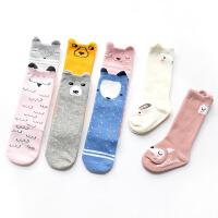 2017秋儿童袜子韩版卡通纯棉可宝中筒袜婴儿袜子0-1-3岁