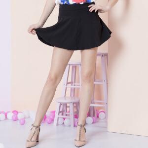 ZDORZI卓多姿夏装显瘦高腰纯色修身短款裙裤女732073