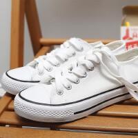 O'SHELL欧希尔新品138-CH-A09休闲平底女士男士情侣帆布鞋