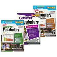 SAP Conquer Vocabulary 4-6年级攻克词汇系列3册练习册套装 10-12岁 新加坡新亚出版社教辅