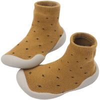 男女宝宝学步鞋童鞋秋冬儿童棉鞋面室内外毛圈地板鞋
