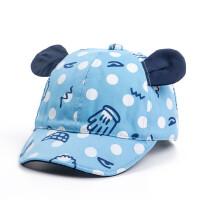 儿童帽子 春夏鸭舌帽宝宝1-36月婴儿 女孩男孩防晒遮阳犄角小孩帽