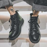 2018冬季男士马丁靴时尚青年高帮休闲皮靴工装鞋日系复古户外男靴