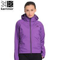 户外透气防水保暖 女士两层冲锋衣冲锋衣 KZBAF321 苜蓿紫 S