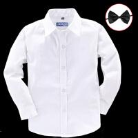 儿童校服白衬衣中大童英伦学生演出服寸衫男童白衬衫长袖