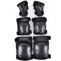 长板滑雪滑板滑冰轮滑户外极限运动护具速降滑翔护具 护肘 护掌 护膝 六件套 六件套