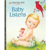 Baby Listens (Little Golden Book)宝宝听(金色童书)ISBN9780307930125