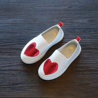 2018春季新款儿童板鞋男童皮鞋女童小白鞋中大童套脚休闲百搭单鞋