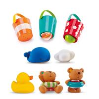 婴幼儿小黄鸭喷水花洒沙漏宝宝3岁洗澡玩具儿童套装戏水漂浮