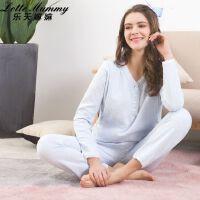 乐天��� 2018冬装韩版新款孕妇套装 冬季宽松空气夹棉可哺乳月子服睡衣女