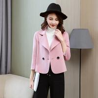 双面呢全羊毛大衣女装短款秋冬新款韩版时尚显瘦羊绒呢料外套