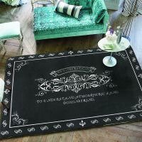 地毯客厅欧式卧室床边毯加绒加厚简约茶几沙发地毯 1.2X1.6米