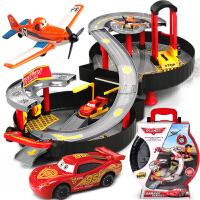男孩玩具汽车玩具总动员轨道车停车场儿童玩具手提轮胎