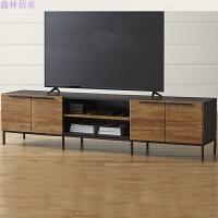 美式实木Loft客厅复古电视机柜子组合创意做旧铁艺地柜小户型家具 组装