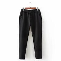 大码女装冬装长裤胖MM空气层加绒加厚黑色小脚裤裤弹力休闲裤