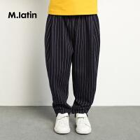 【2件2.5折:79元】马拉丁童装男大童针织长裤细致脚口简约舒适长裤春装