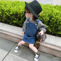 女童连衣裙儿童牛仔背带裙3岁4宝宝裙子公主裙女孩吊带背心裙 图片色