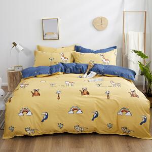 【领券立减100】纯棉全棉四件套1.8m床单被套床单床品套件简约床品女网红床上用品