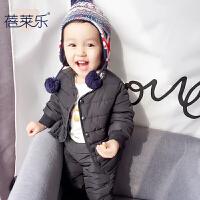 女宝宝衣服冬季1岁3个月男童上衣新生儿外套秋冬季婴儿加厚外出服