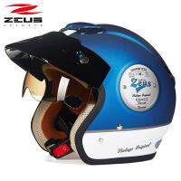 摩托车头盔男女半覆式个性酷夏季复古半盔机车安全帽四季