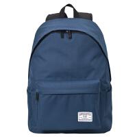 双肩包男学生电脑包书包女背包grf 藏青蓝