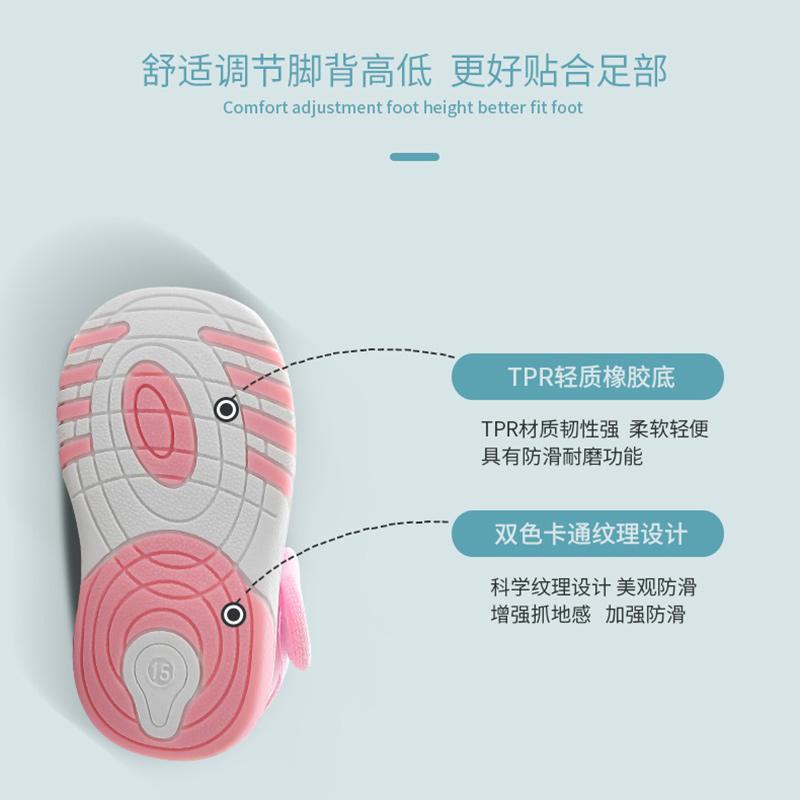婴儿凉鞋女0-1-2岁男童幼儿软底防滑不掉夏季小宝宝鞋子