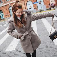 2018秋季新款大衣女中长款毛呢外套韩国茧型学生2018新款收腰韩版冬季妮子秋装