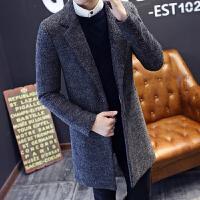 秋冬季男士毛呢大衣韩版修身风衣男中长款加厚呢子外套潮男装衣服