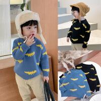 童装男宝宝毛衣洋气儿童恐龙提花针织衫套头衫