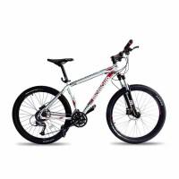 山地车自行车双蝶刹27速油碟铝合金车架2014300铝合金折叠山地车变速自行车