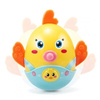 婴幼儿玩具 大号小鸡不倒翁点头娃娃玩具宝宝儿童早教益智礼盒装生日礼物 小鸡牙胶不倒翁