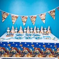 儿童生日派对布置用品玩具总动员儿童生日派对用品布置装饰宝男孩帽子餐具周岁主题