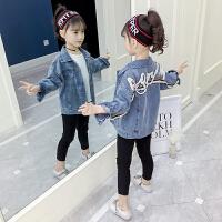 女童牛仔外套春装儿童洋气小女孩时髦童装春秋洋气