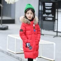 女童棉衣中长款新款儿童羽绒中大童加厚外套女孩冬装棉袄