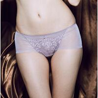 【2件3折到手价约:41】欧迪芬女式内裤巴黎夜影内裤 蕾丝边低腰平角裤OP6514